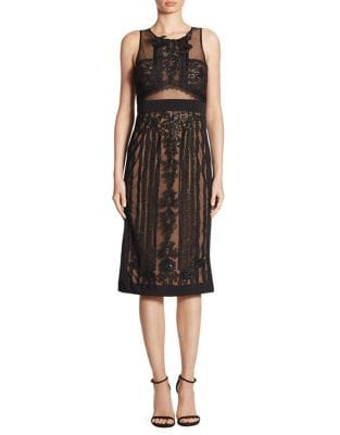 Embroidered Mesh Lace Dress by Decode 1.8