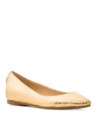 Mira Metallic Leather Ballet Flats by MICHAEL MICHAEL KORS