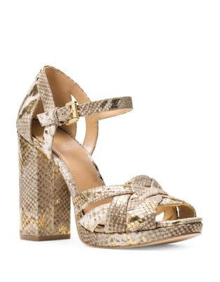 Annaliese Leather Platform Sandals by MICHAEL MICHAEL KORS