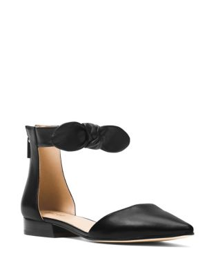 Alina Leather Ankle Bow Flats by MICHAEL MICHAEL KORS