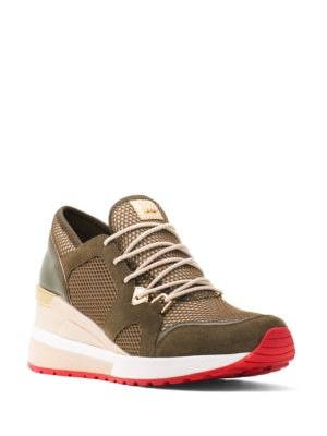 Mesh Patent-Leather Sneakers by MICHAEL MICHAEL KORS