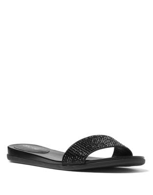 Eleanor Satin Slides by MICHAEL MICHAEL KORS
