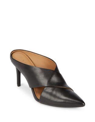 Gilliana Leather Stiletto Mules by Calvin Klein