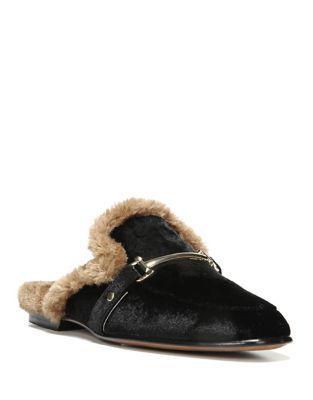 Danica Velvet and Faux Fur Mules by Sam Edelman