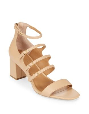 Caz Open-Toe Leather Sandals by Calvin Klein