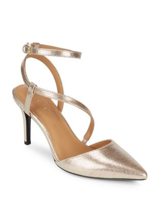 Ganya Metallic Leather Pumps by Calvin Klein