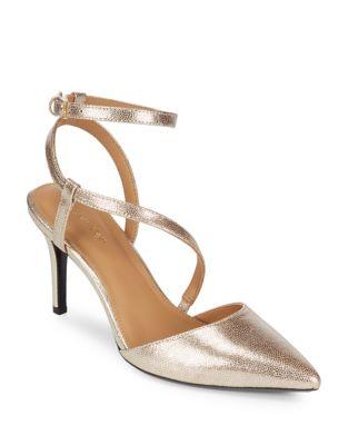 Photo of Ganya Metallic Leather Pumps by Calvin Klein - shop Calvin Klein shoes sales