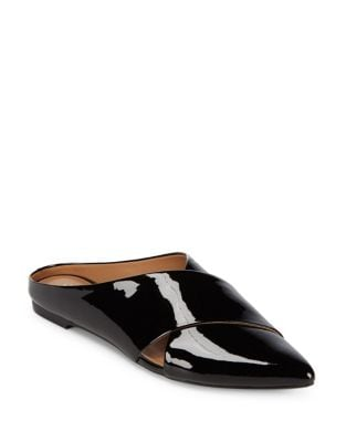 Gerda Patent Leather Mules by Calvin Klein