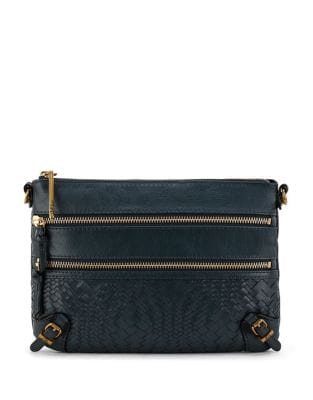 Bali 3-Zip Leather Clutch...