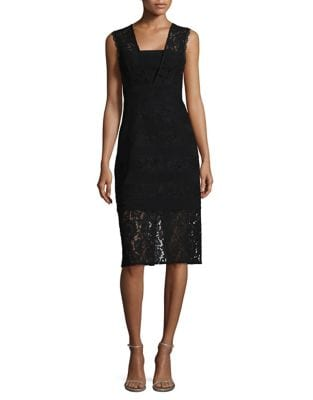 Scalloped Lace Sheath Dress by Lauren Ralph Lauren