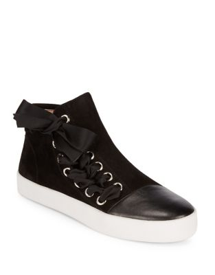 Valerie Leather and Suede Sneakers by Avec Les Filles