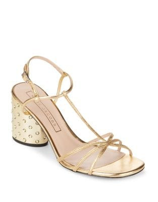 Sheena Metallic Leather Embellished Sandals by Marc Jacobs