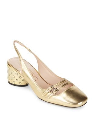 Bette Leather Slingback Pumps by Marc Jacobs