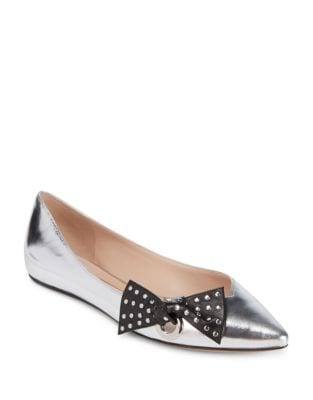 Rita Leather Flats by Marc Jacobs