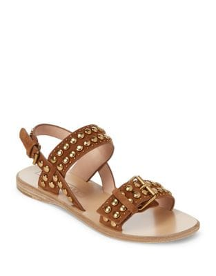 Tawny Leather Flat Sandals by Marc Jacobs