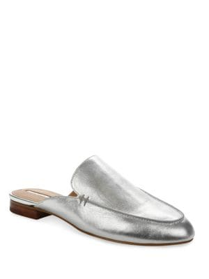 Flower Metallic Leather Slip-On Mules by Tahari
