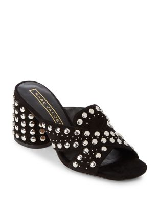 Aurora Leather Studded Crisscross Sandals by Marc Jacobs