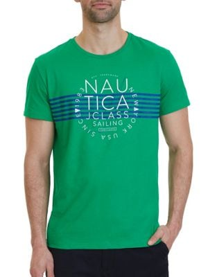 J Class Sailing Graphic Cotton Tee by Nautica