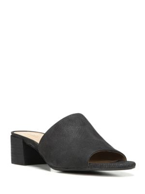 Fairley Block Heel Leather Sandals by Naturalizer