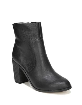 Zippered Leather Booties by Dr. Scholl's