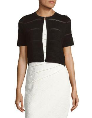 Textured Short Sleeve Cardigan by Calvin Klein Plus