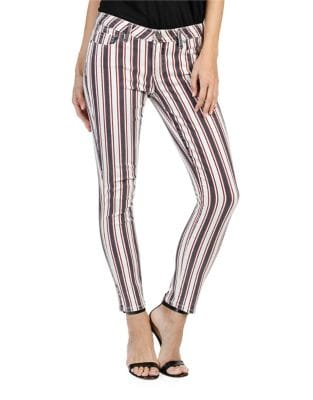Verdugo Striped Ankle Skinny Jeans 500087127699