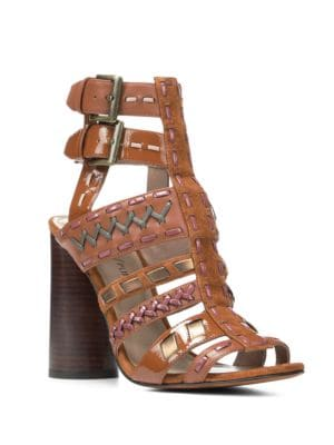 Leather Cage Sandals by Donald J Pliner