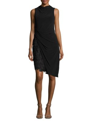 Mock Lace Dress by Vera Wang