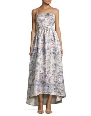 Sleeveless Brocade Gown by Vera Wang