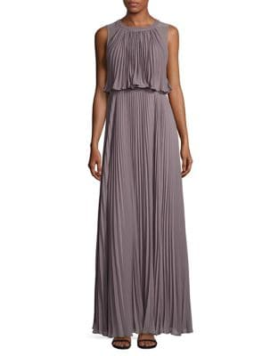 Pleated Blouson Gown by Vera Wang