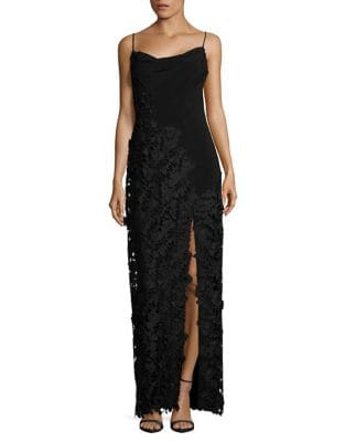 Sleeveless Floral Embroidered Gown by Vera Wang