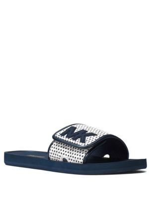 Buy Leather Slip-On Slides by MICHAEL MICHAEL KORS online