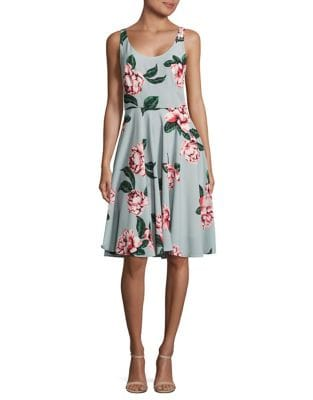 Floral A-Line Dress by Paper Crown