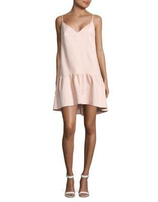 V-Neck Drop Waist Dress by Paper Crown