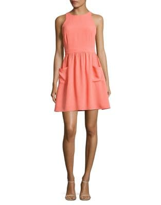 Eliana Crepe A-Line Dress by Paper Crown