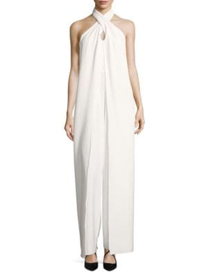 Halter Keyhole Jumpsuit by Betsy & Adam