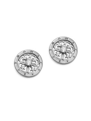 Sterling Silver Scrollwork Stud Earrings 500087134913