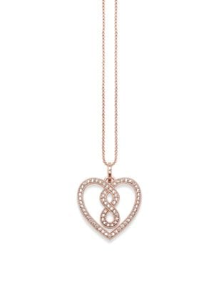 Sterling Silver Infinity Heart Pendant Necklace 500087134973