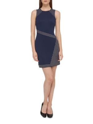 Studded Crewneck Dress by Guess