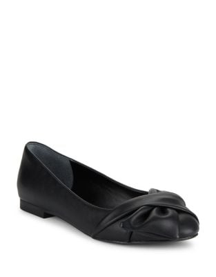 Darcy Knotted Faux Leather Flats by Charles by Charles David