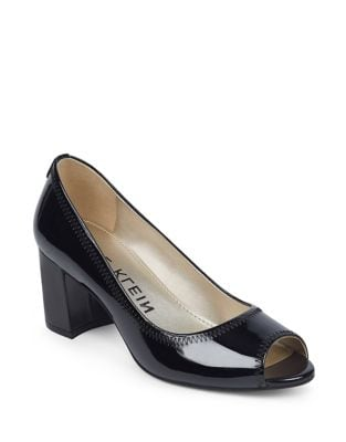 Meredith Slip-On Leather Dress Pumps by Anne Klein