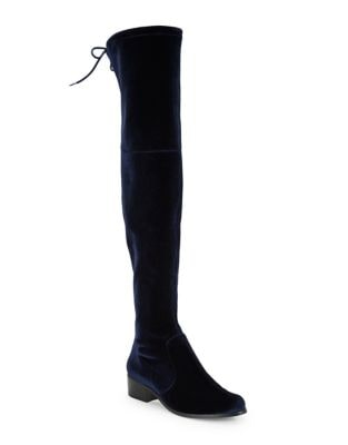 Gunter Velvet Over-The-Knee Boots 500087136084