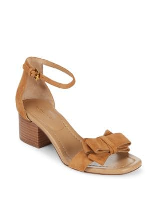 Winnie Suede Ankle-Strap Sandals by Michael Kors Collection
