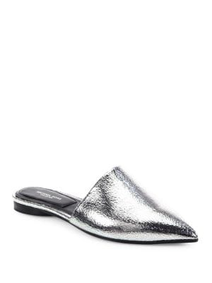 Darla Metallic Leather Mules by Michael Kors Collection