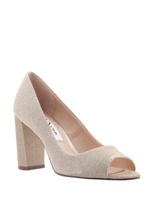 Farlyn Textile Peep Toe Pumps by Nina