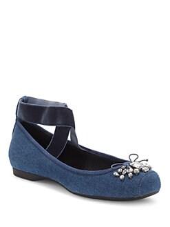 9de4d5cc3c733 Jessica Simpson - Miaha Denim Ballet Flats
