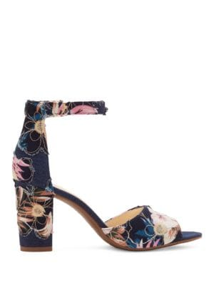 Sherron Suede Leather Ankle-Strap Sandals by Jessica Simpson
