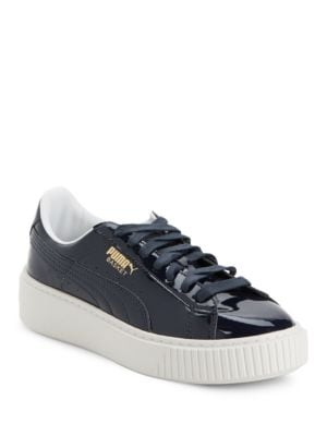 Leather Basket Platform Sneakers by PUMA