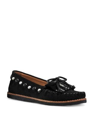 Studded Leather Loafers by COACH