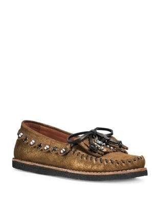 Glitter Suede Stud Loafers by COACH